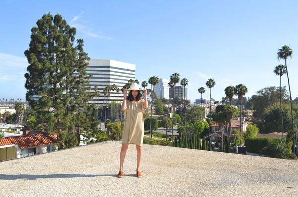 BETWEEN TEN Beverly Dress - Beige Stripe