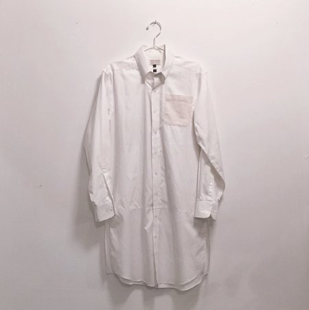 Unisex Laurs Kemp Long Button-up -White
