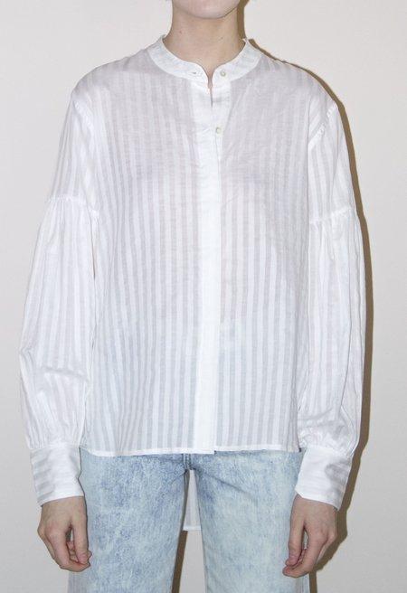 EI8HTDREAMS Cara Volume Sleeve Stripe Shirt - white