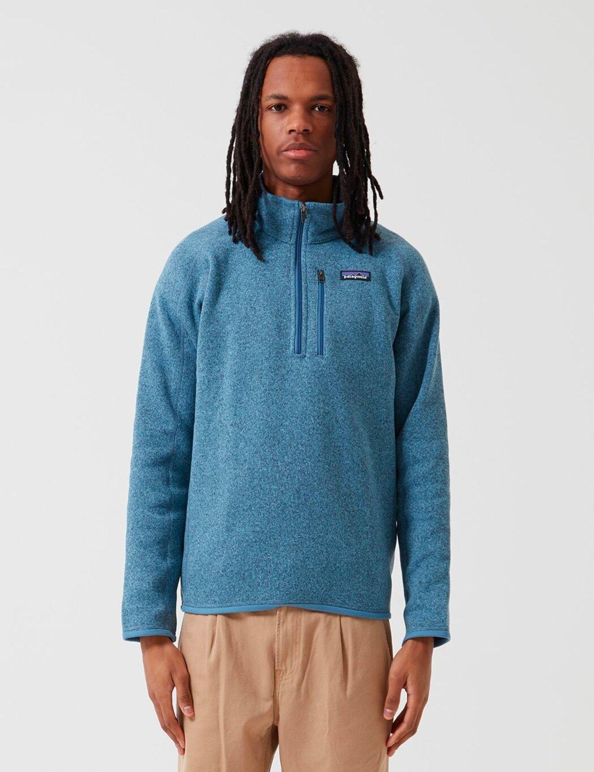 Patagonia 14 Zip Fleece Better Sweater Pigeon Blue