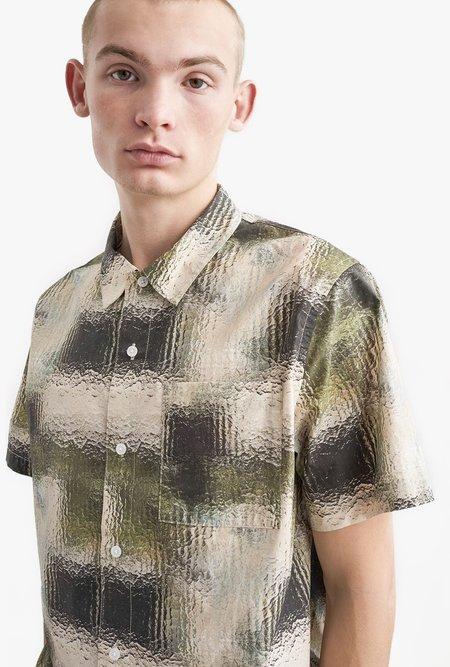 Saturdays NYC Alpons Short Sleeve Shirt - Pebbled Glass Print