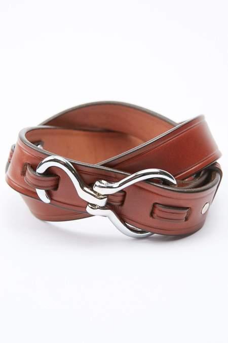 Tory Leather Hoof Pick Belt - Oak/Nickel