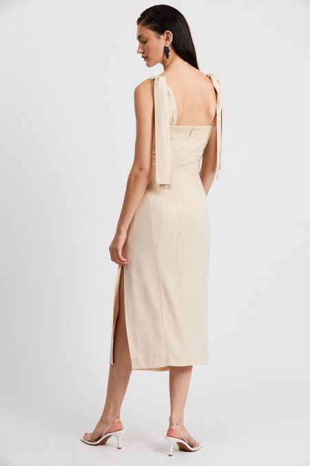 Third Form Le Mode Tie Shoulder Dress - Cream