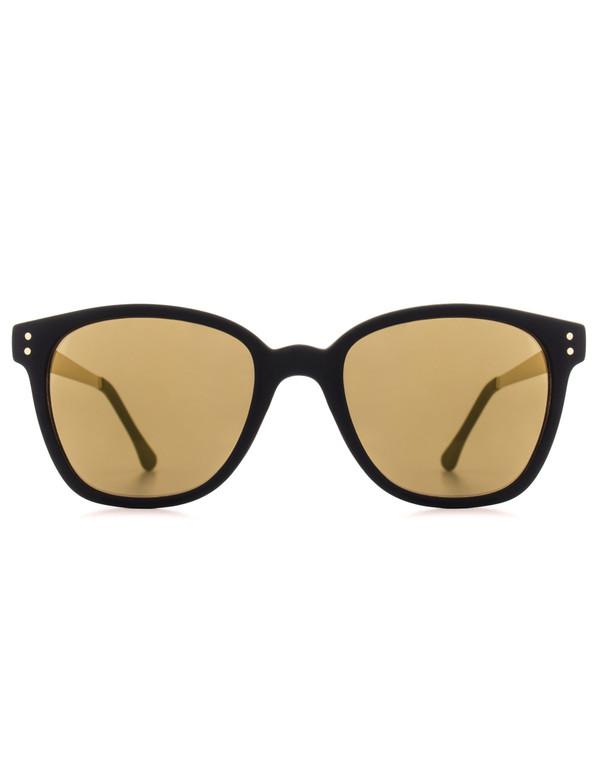 Komono Renee Sunglasses Black Gold Metal