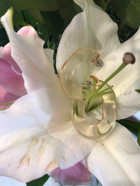 Rachel Comey Small Keeper Earrings - Clear Honey
