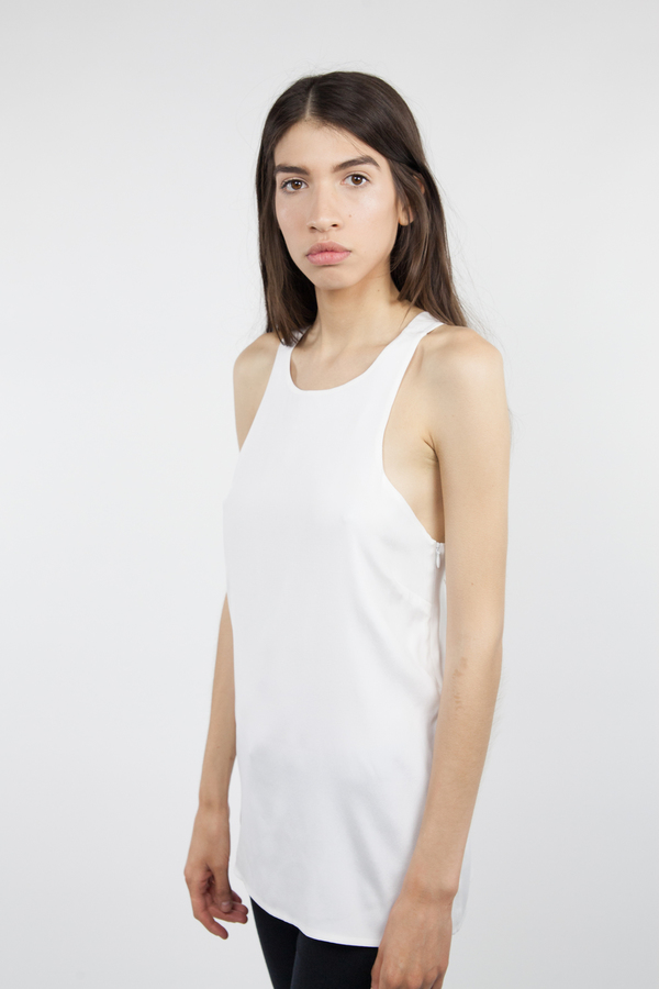 Emerson Fry V Back Top - White