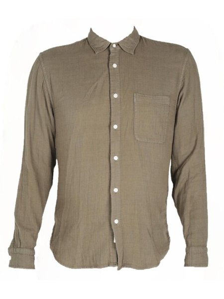 KATO The Ripper Slim French Seam L/S Vintage Double Gauze Shirt - Military Green