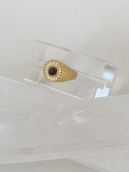 Mercurial NYC Tiger's Eye Beam Ring