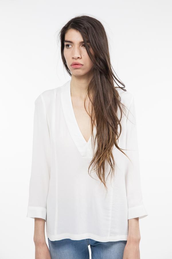 Just Female Lola Blouse - White