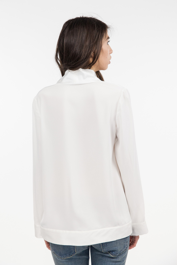 TY-LR The Luxe Silk Top - White