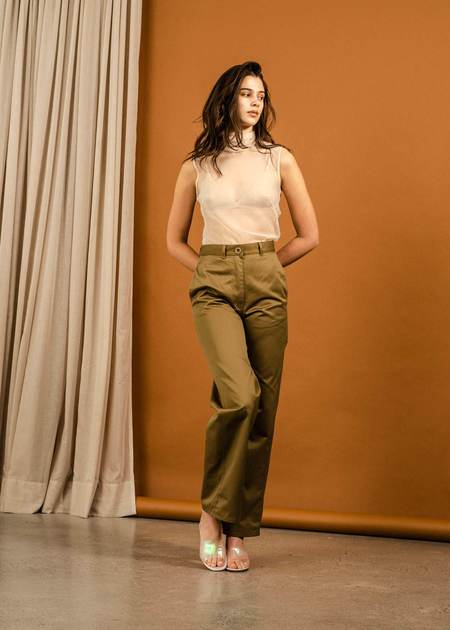 Penny Sage Roque Top - Shell