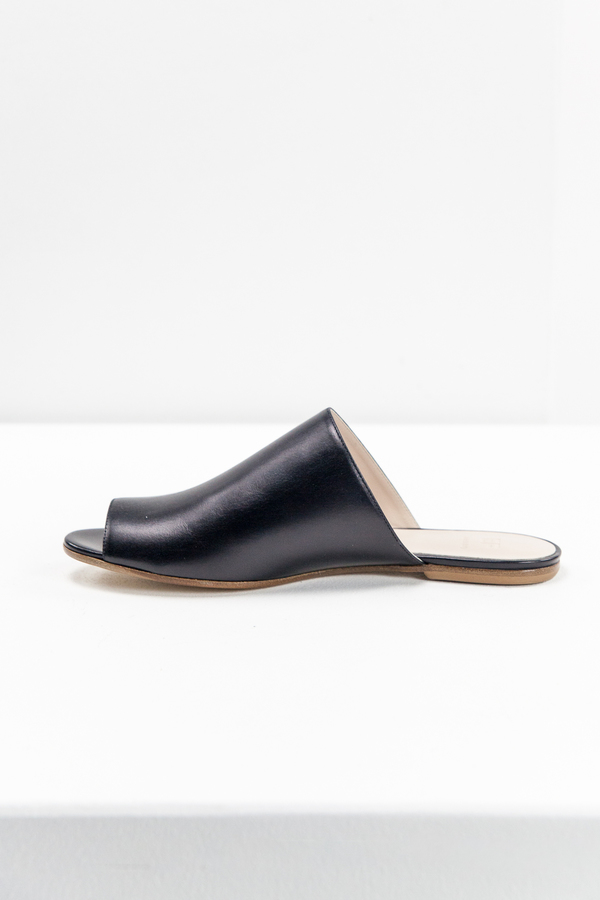 Emerson Fry Open Toe Slide - Super Black