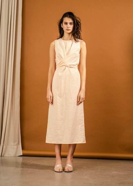 Penny Sage Yrsa Dress - Peach Stripe