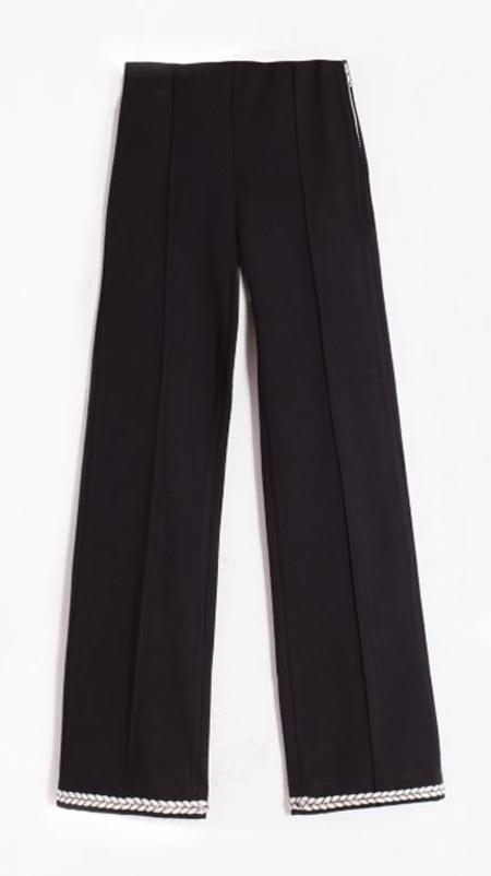 Vilagallo Guillia Pants with Nautical Detail - Black