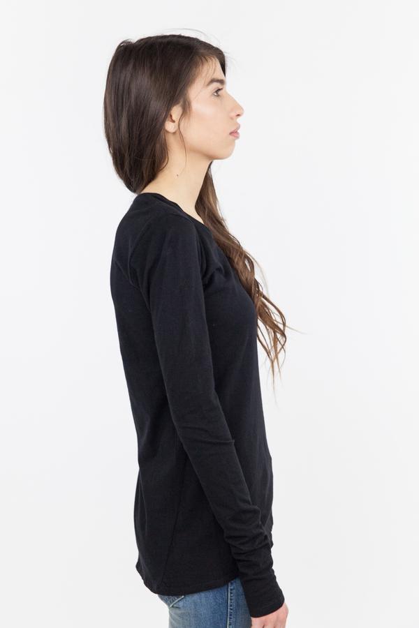 Kowtow Building Block Long Sleeve Top - Black