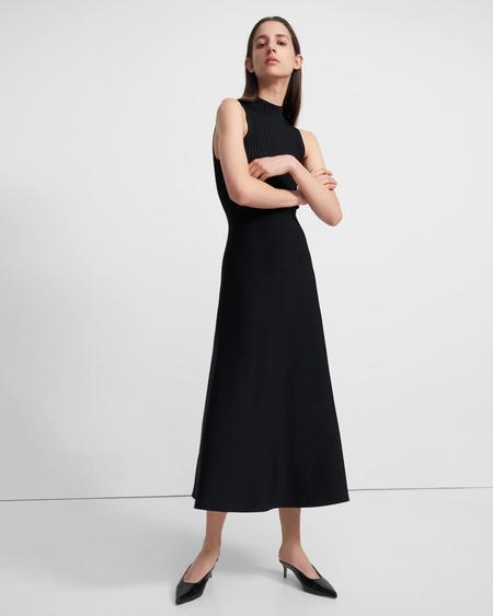 Theory Compact Rib Dress - Black
