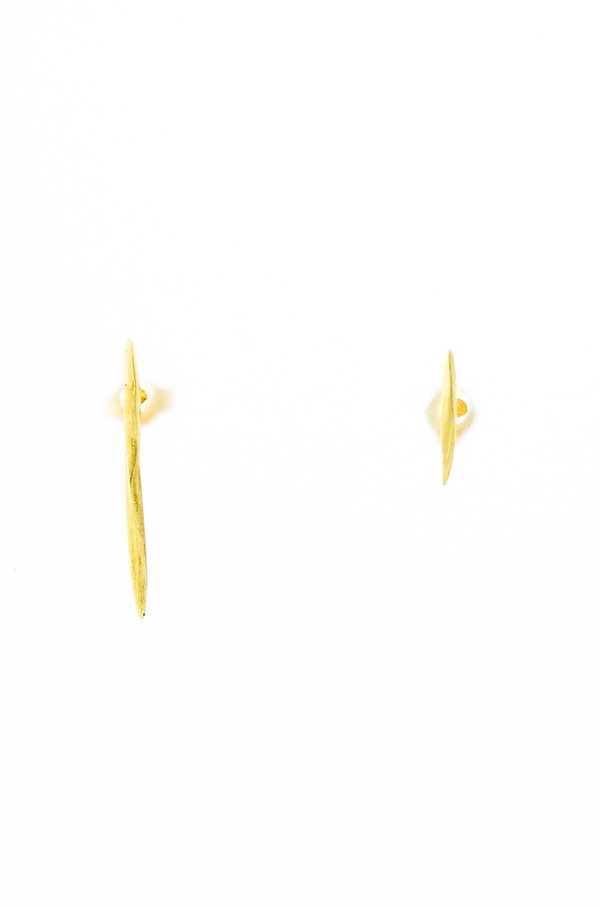 K/ller 10k Yellow Gold Asymmetrical Twist Spike Studs