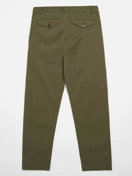 Universal Works Aston Trouser - Light Olive Twill