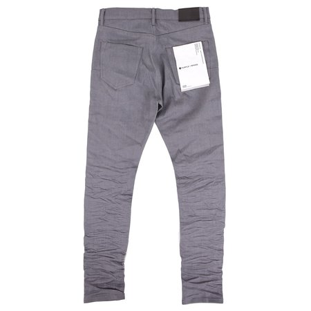 Purple Raw Denim - Grey