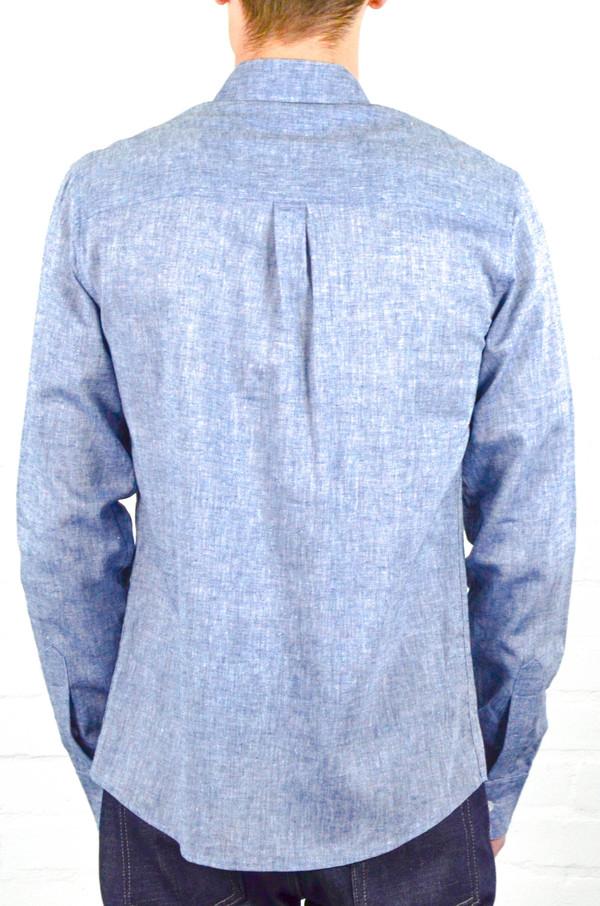 Men's Welcome Stranger Navy Chambray Long Sleeve Clean Seam Shirt