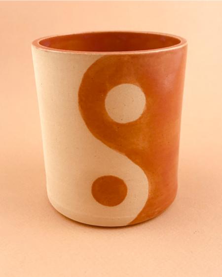 Meha Ceramics YIN/YANG TUMBLER - Coral