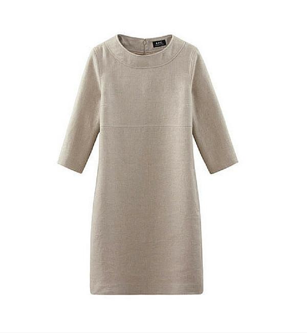 A.P.C. Beige Baba Dress