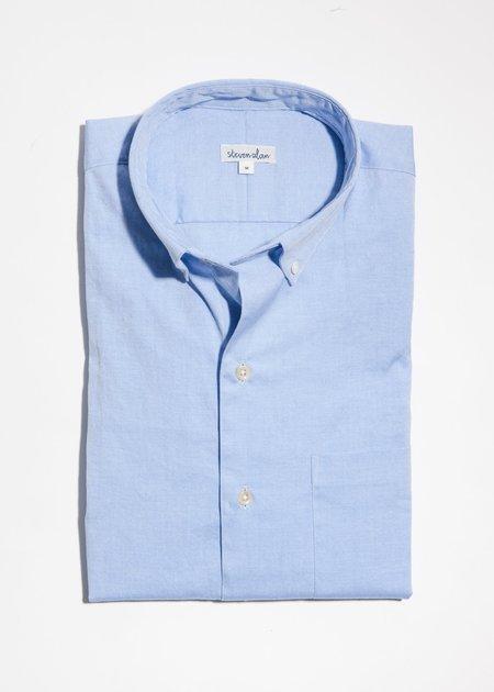 Steven Alan Single Needle Shirt - Blue Pinpoint Oxford