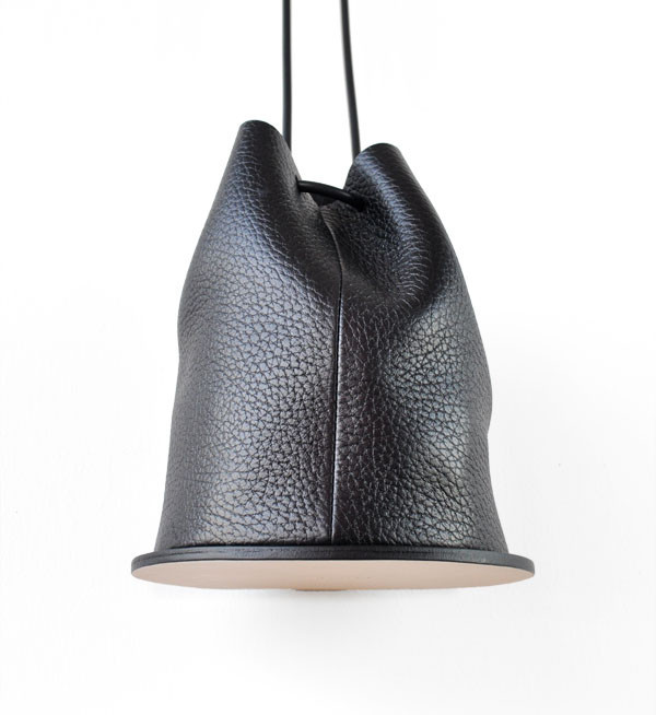 Building Block Pebbled Black Disc Bag