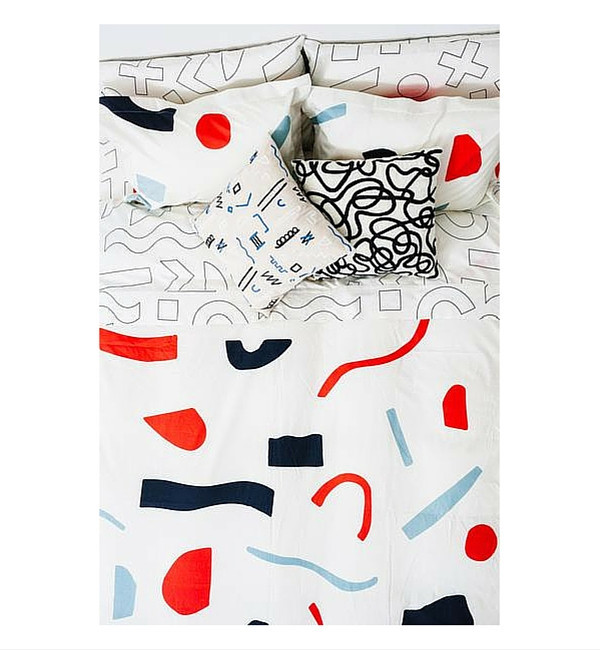 Dusen Dusen Cutouts Full/Queen Duvet Set