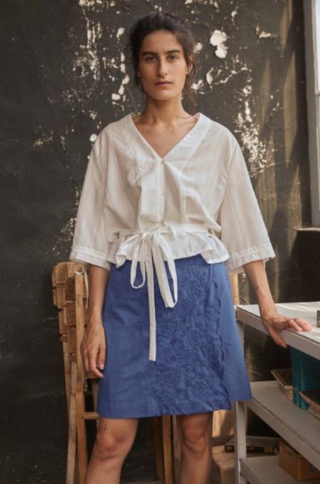 Frisur DAFNE wrap skirt - azure flower