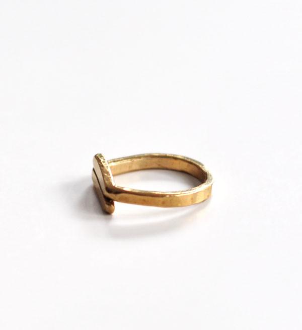 Fay Andrada Brass Rele Ring