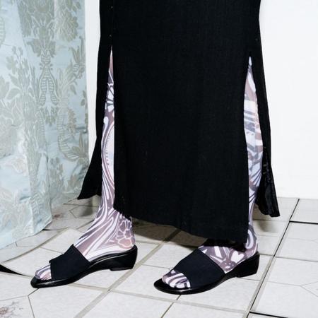 [PRE-LOVED] Stuart Weitzman Slip On Sandals - Black