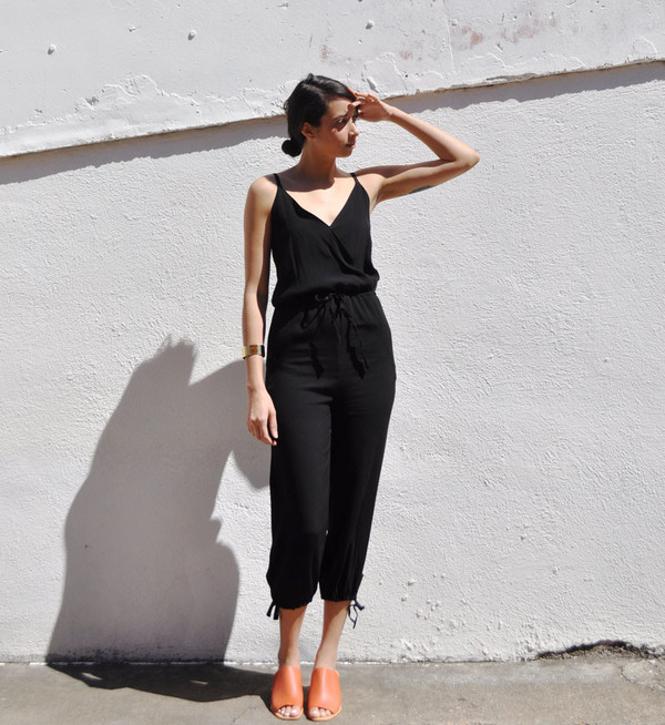 No.6 Black Rayon Playa Jumpsuit