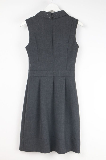 Peserico Em Collar Dress - GREY