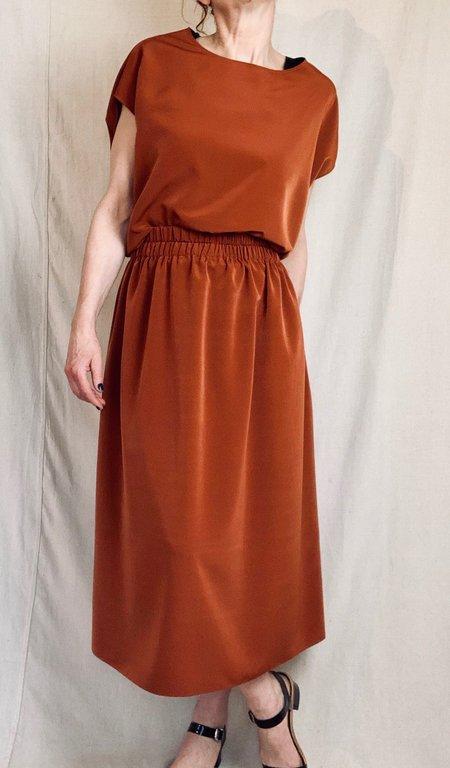 Anderst Louisa Paperbag Skirt - Burnt Orange