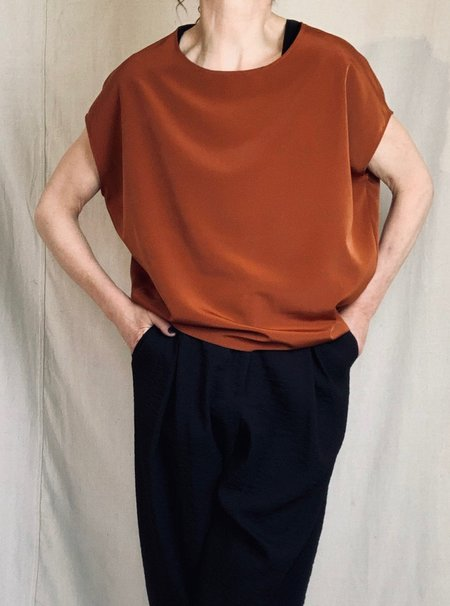 Anderst Louisa Top - Burnt Orange