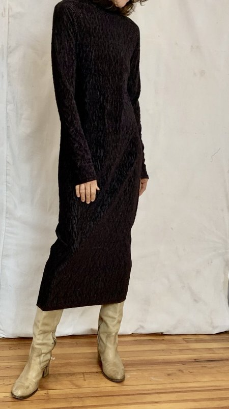 Anderst Knit Senta Turtleneck Dress - wine