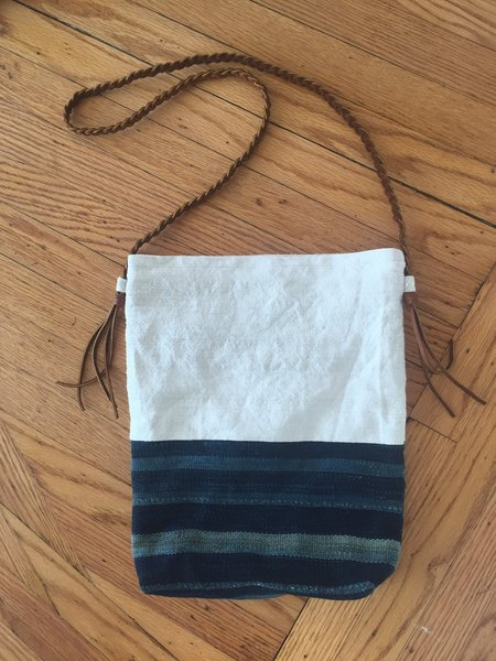 Anderst Mud cloth tote with braided strap