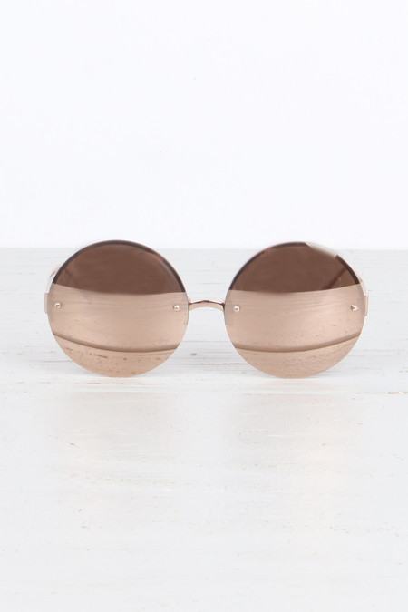 Linda Farrow Luxurious Round Sunglasses