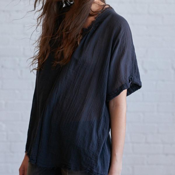 Raquel Allegra Short Sleeve Henley