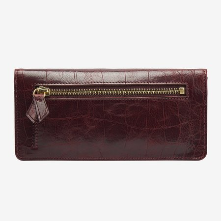 Tusk Matera Gusseted Wallet - Oxblood