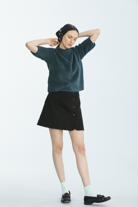Carleen Snap Skirt-Black
