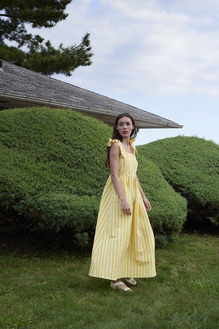 WHiT Ribbon Dress in Otto Stripe - Yellow