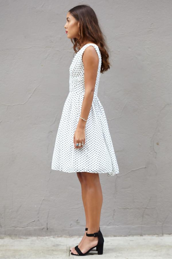Julia Jordan Polka Dot Dress
