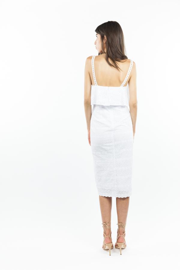 Bec & Bridge Cassidy Midi Dress - White
