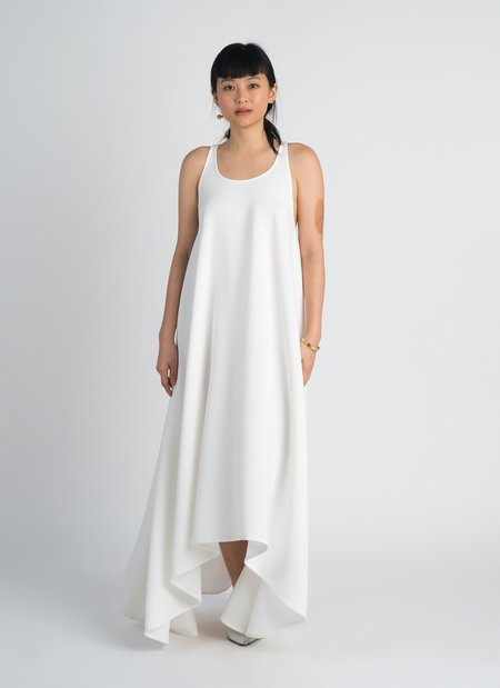 KAAREM Ca Sleeveless Maxi Racerback Tent Dress - White