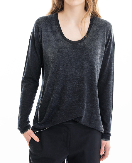 Paychi relaxed scoop cashmere sweater - deep navy
