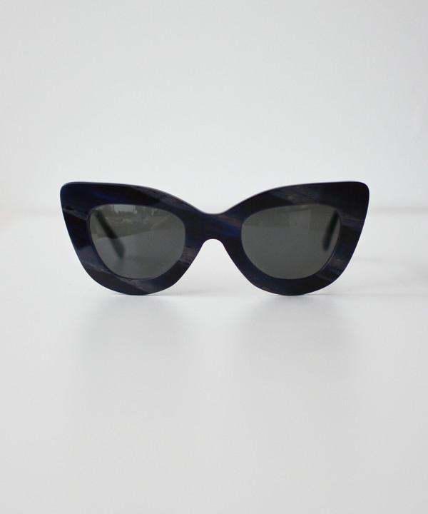 Dusen Dusen Blue Horn Triangle Sunglasses