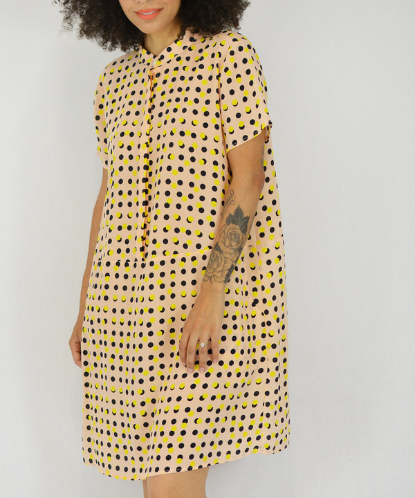 Dusen Dusen Peach Double Dot Oversized Tee Dress