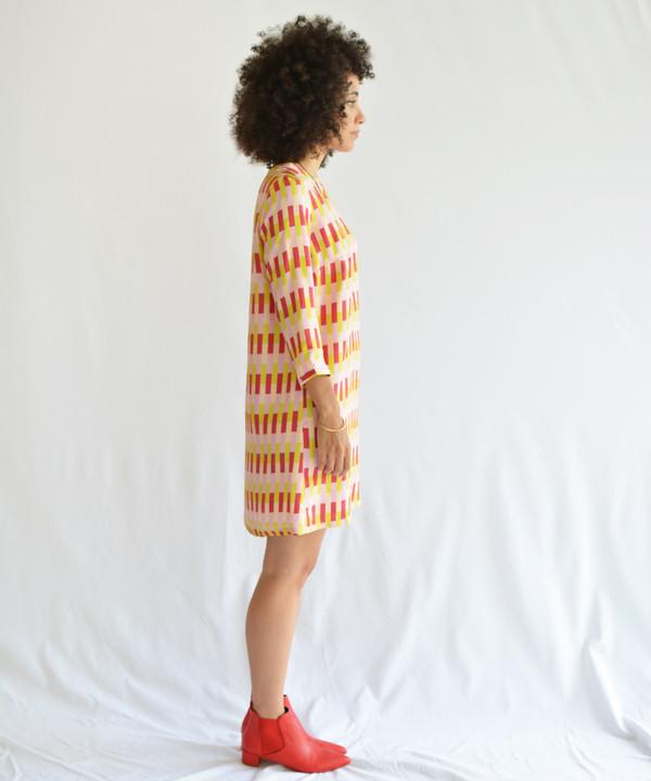 Dusen Dusen Vertical Bricks Three Quarter Dress